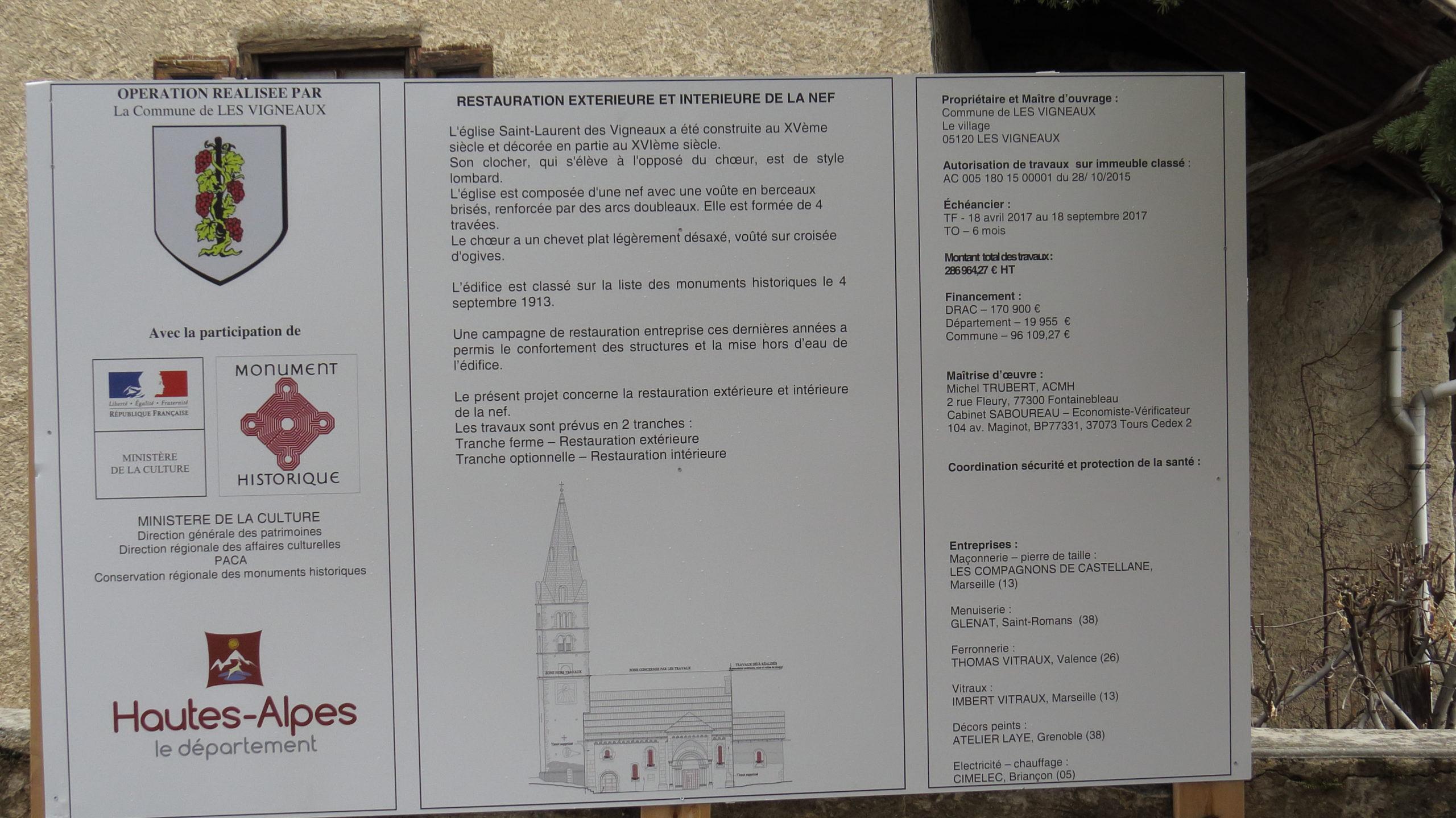 Programme de restauration église 05