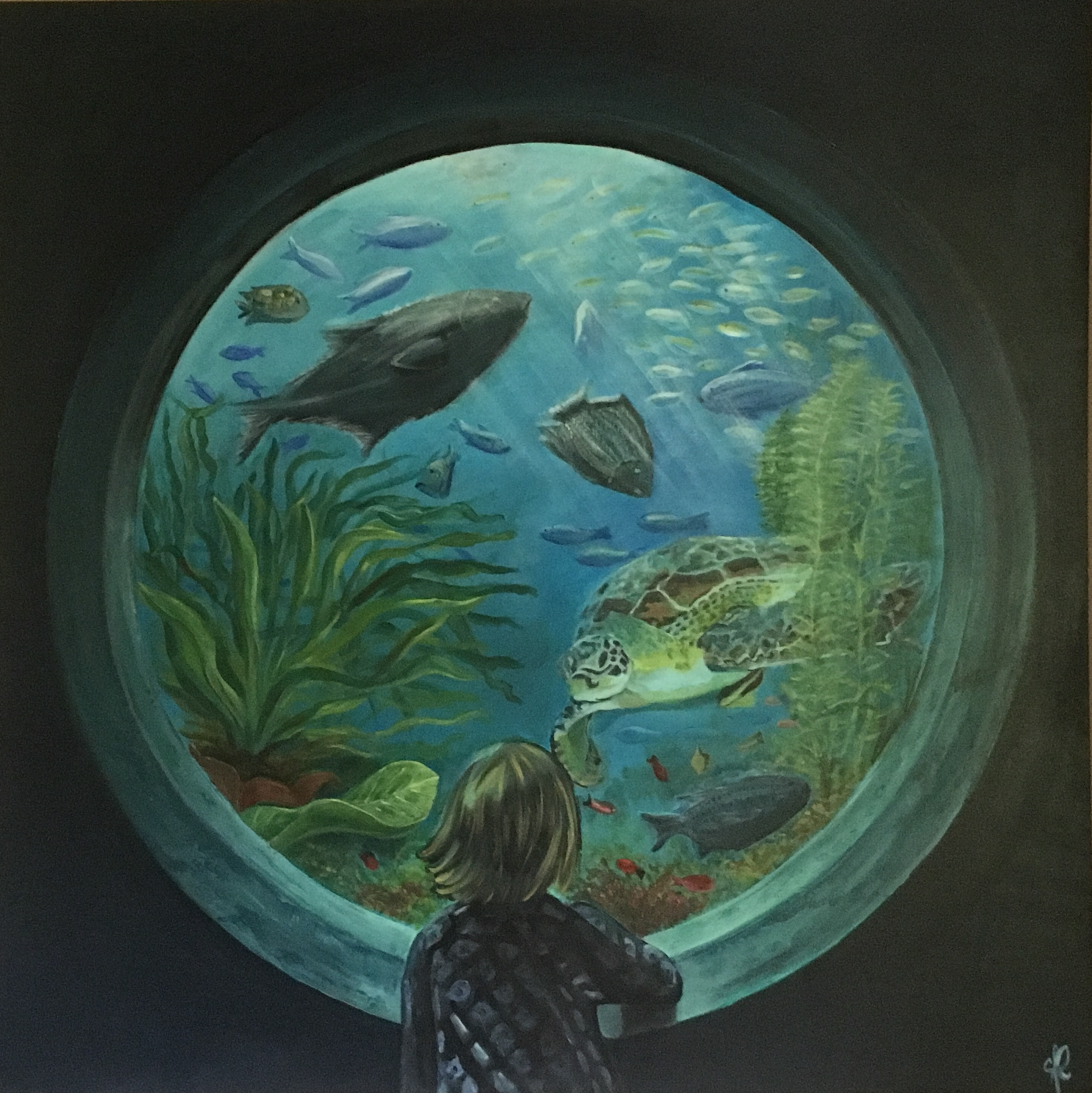 Behind the porthole 120X120