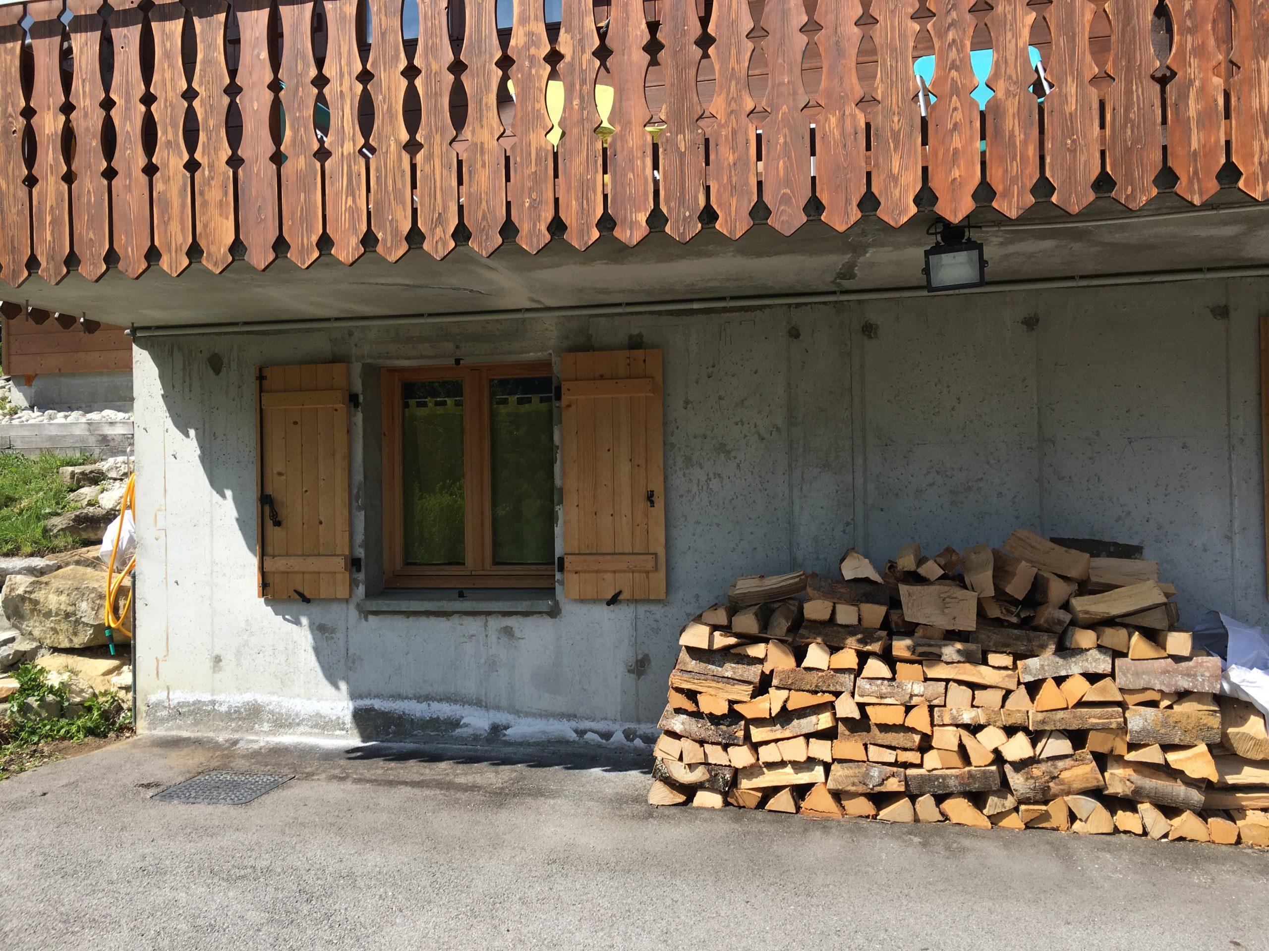 Restauration façade avant imitation pierres