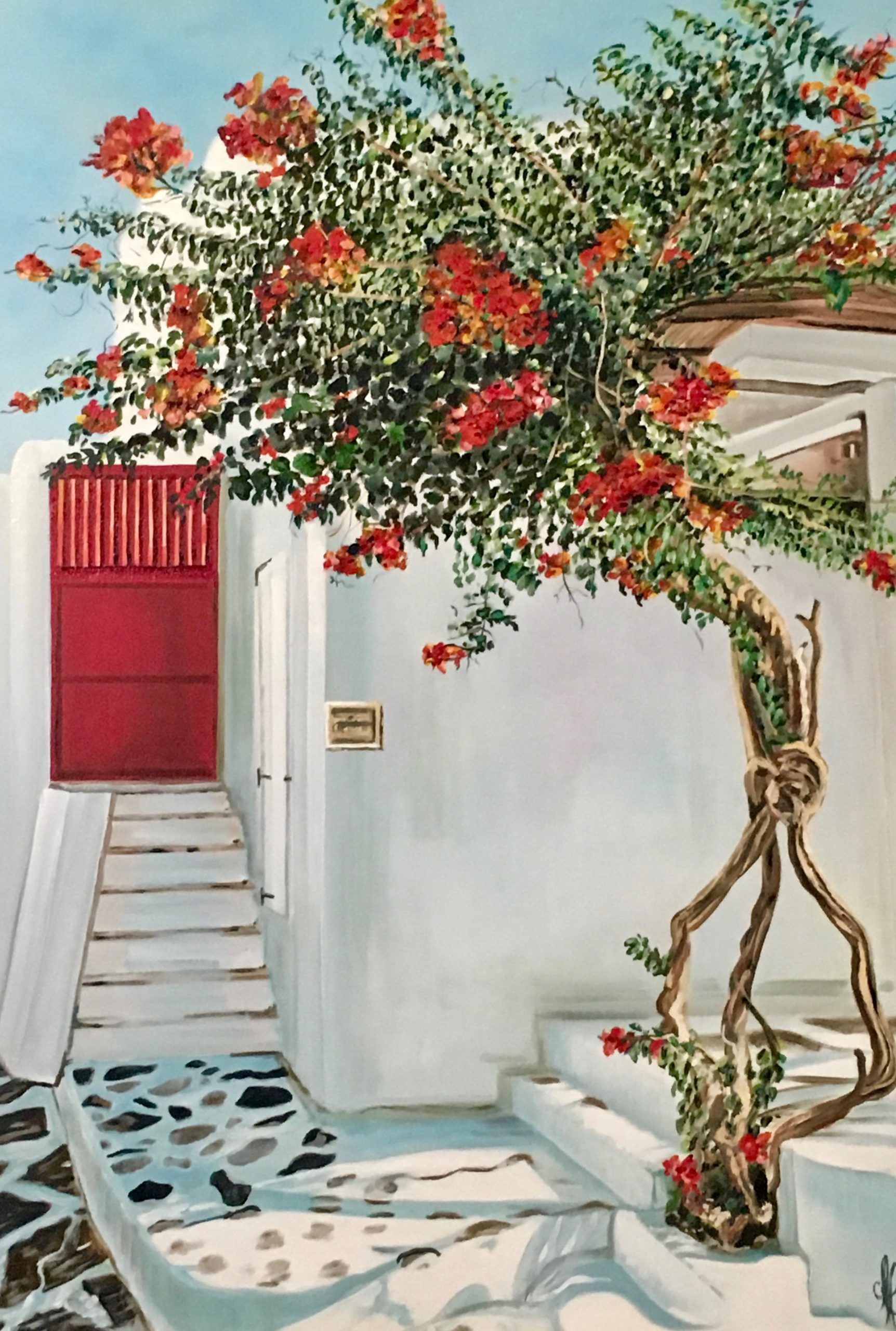 Cretan house Oil painting 70X100