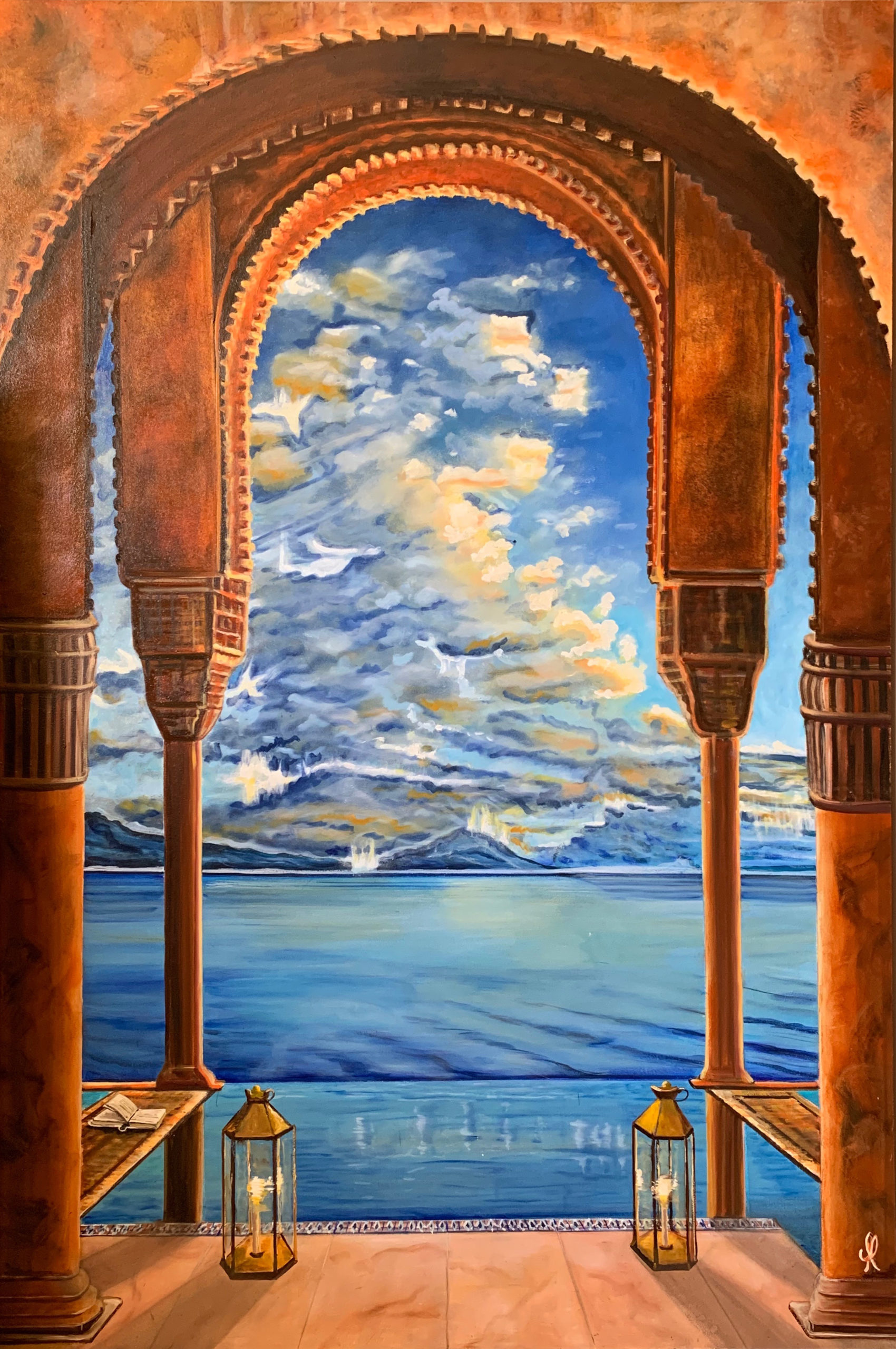 Moroccan palace - oil on canvas 135x90