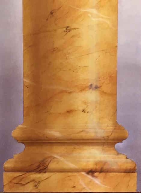 Colonne marbre Jaune de Sienne
