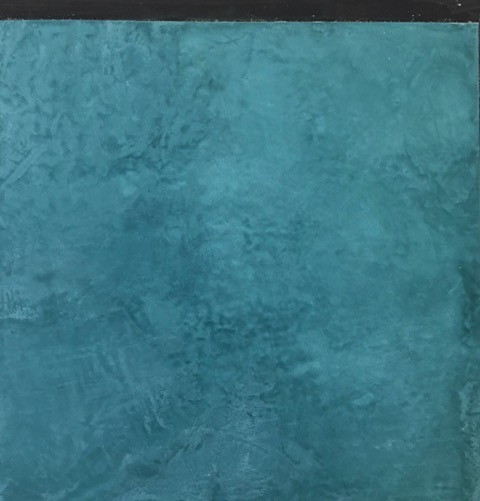 Enduit de béton ciré bleu