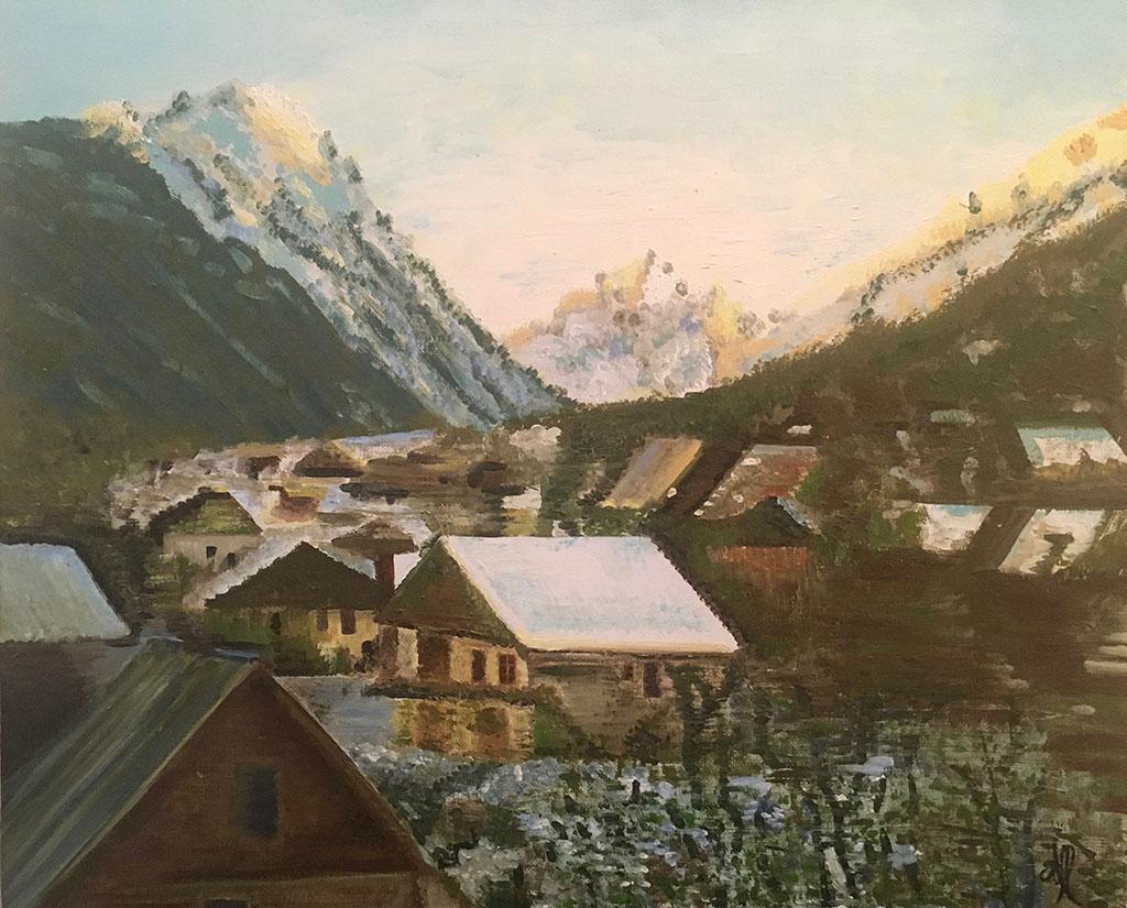 Paysage de montagne (huile)