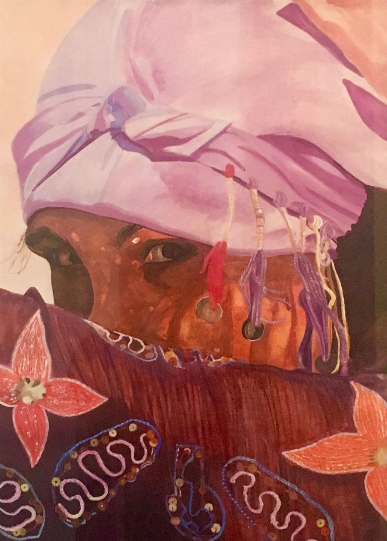 Portrait de marocaine (huile)