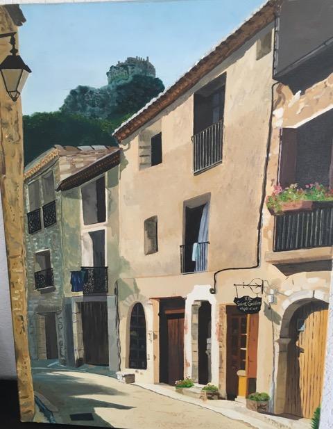 Ruelle de l'arrière Pays Héraultais (huile)