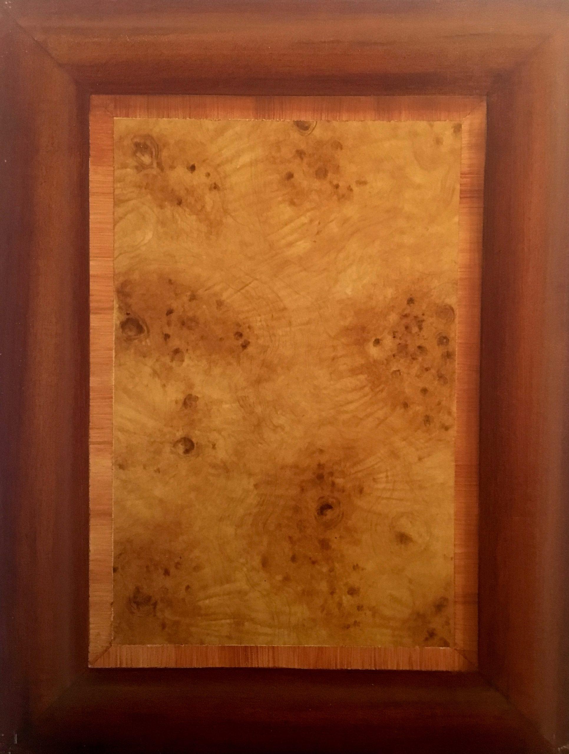 imitation mahogany and false moldings