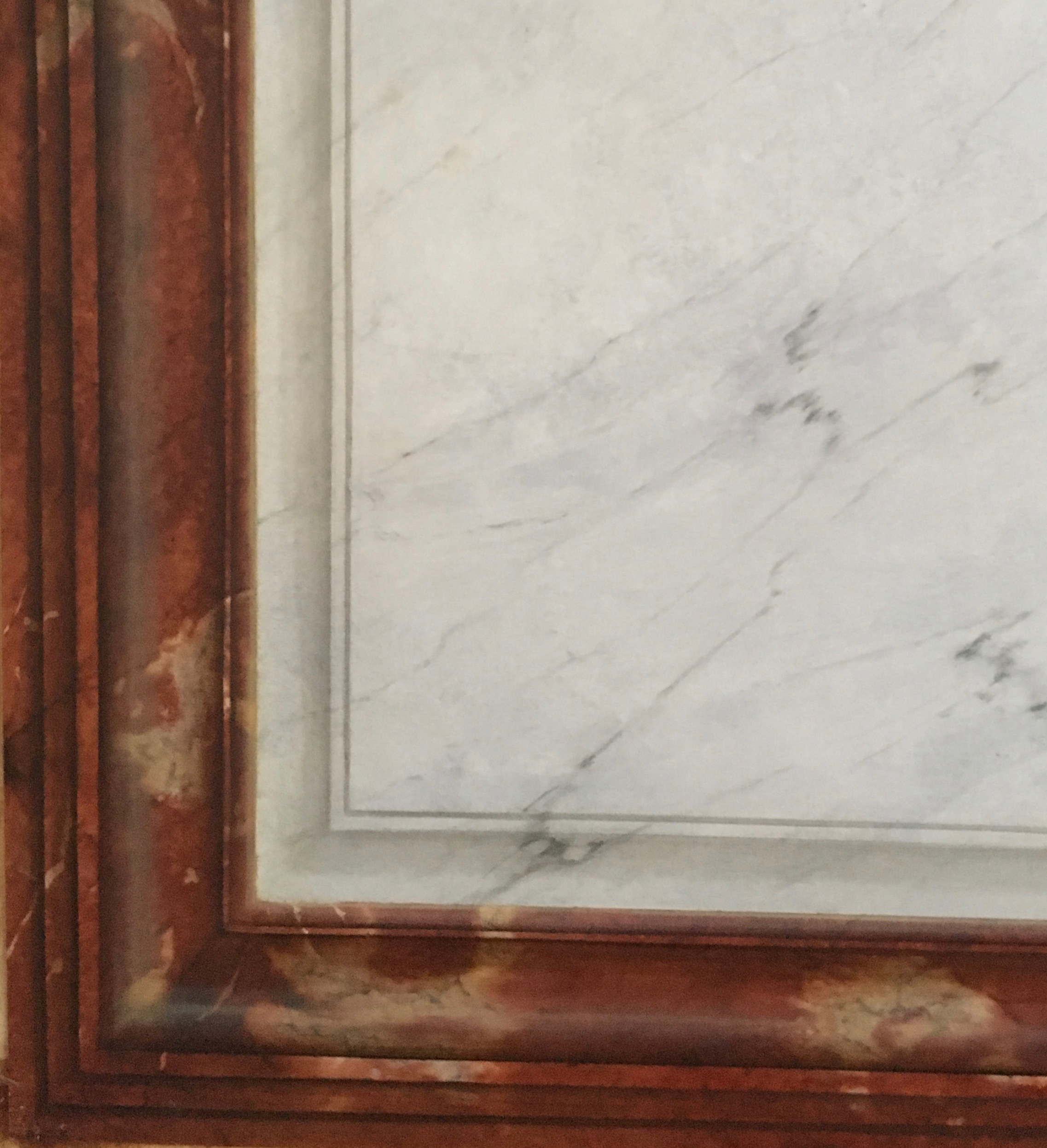 imitation marbles 'white veined' and 'red languedoc' with false moldings