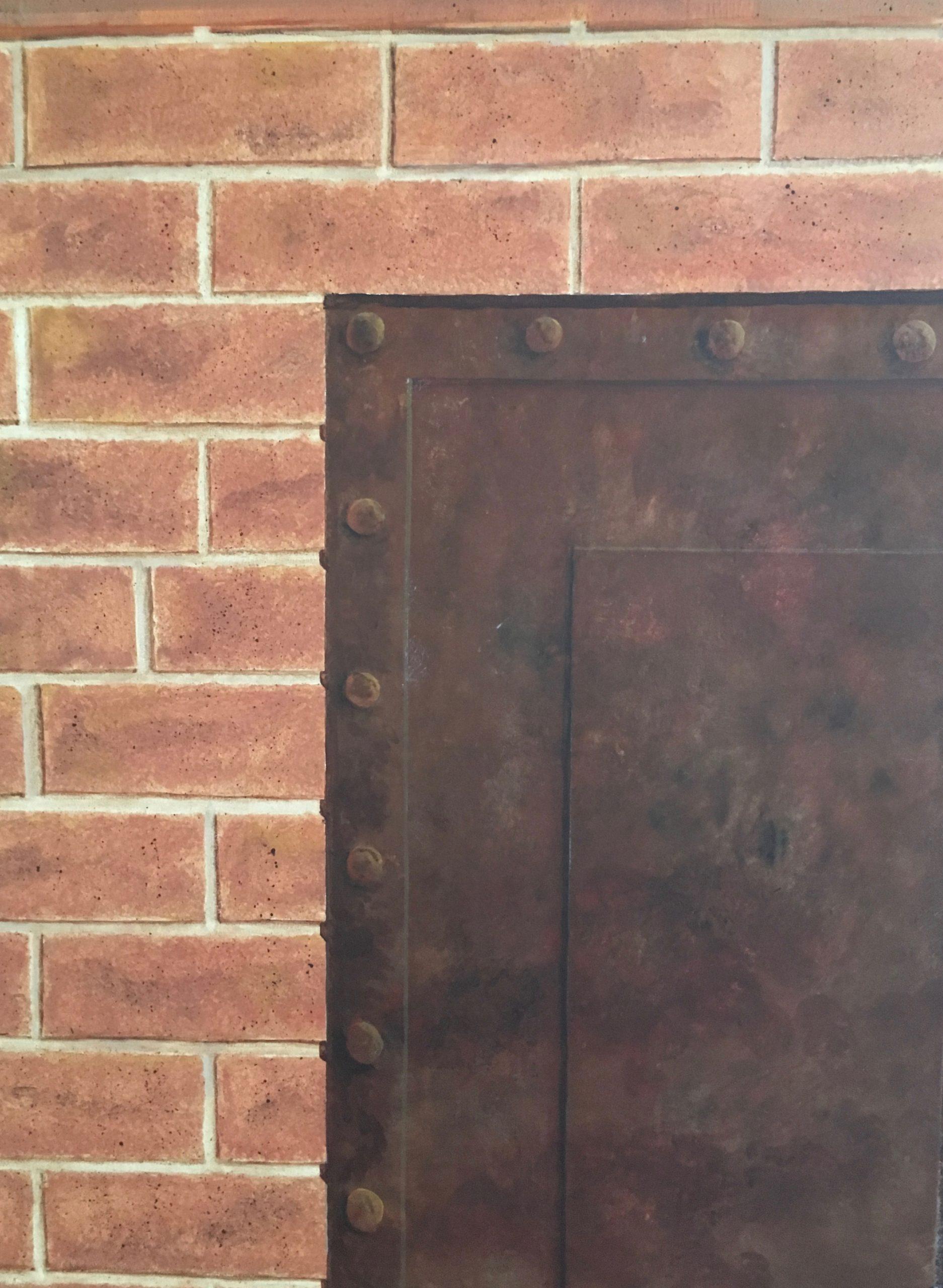 imitation of brick and rust