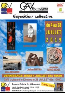 Gallerie d'Art Villamagna - expo collective du 4 au 28 juillet 2019