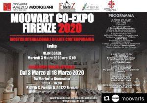 MOOVART CO-EXPO FIRENZE - 2 de mes toiles seront exposées (Trompe l'oeil vitraux et Plage du Cotentin)