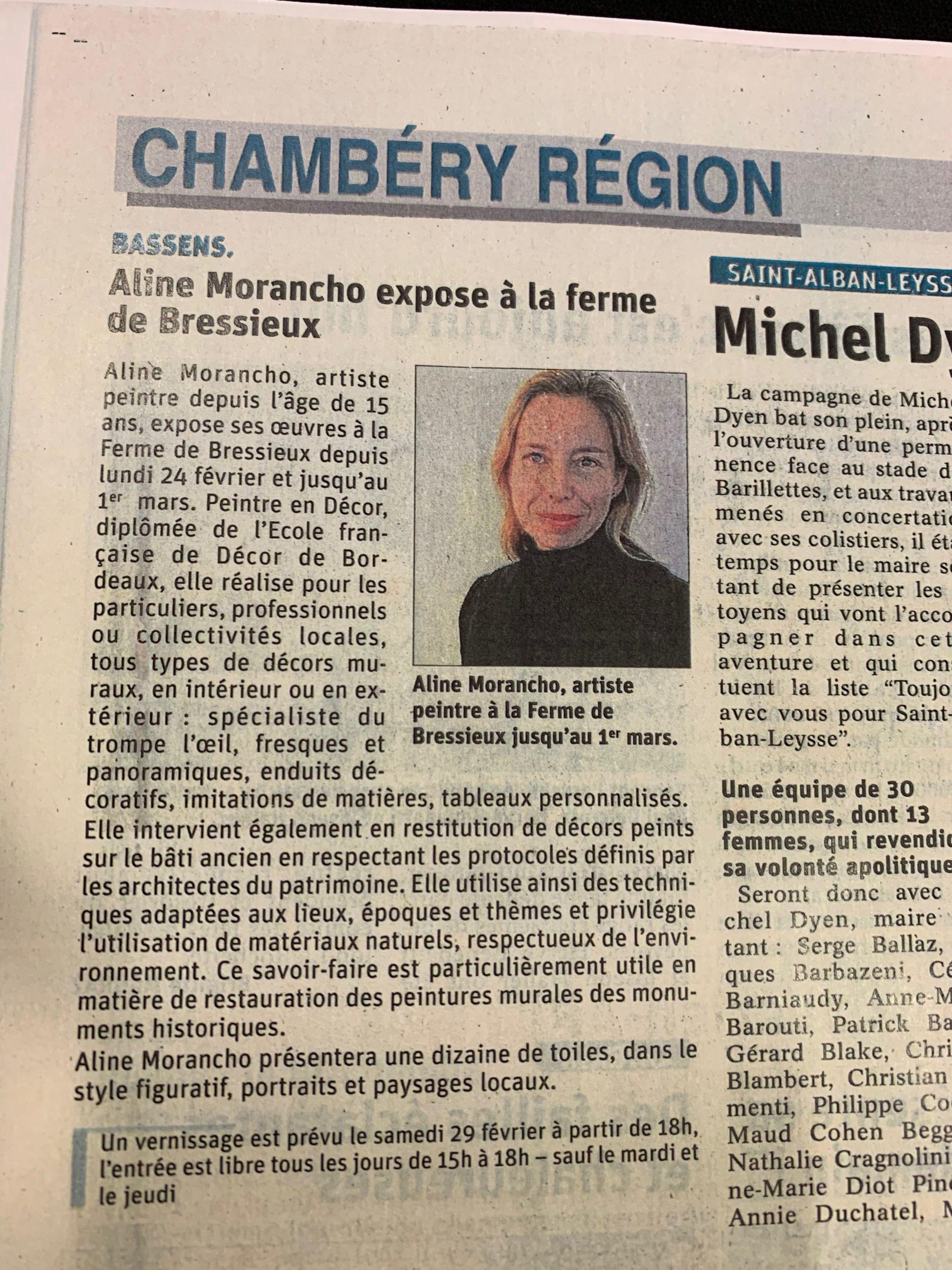 Article Dauphiné sur Expo Ferme de Bressieux à Bassens 73