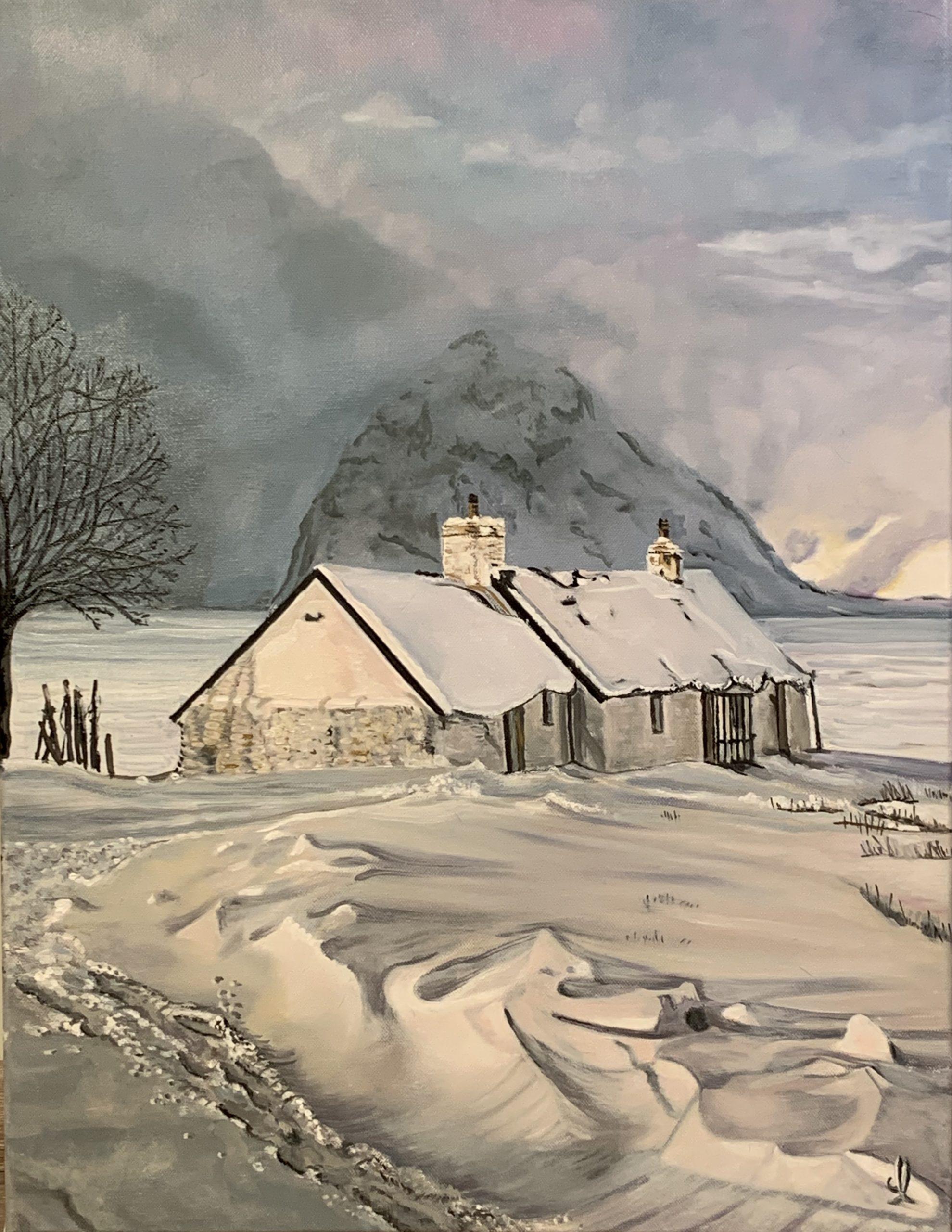 Marais Chalets in Revard - oïl on canvas L50xH65