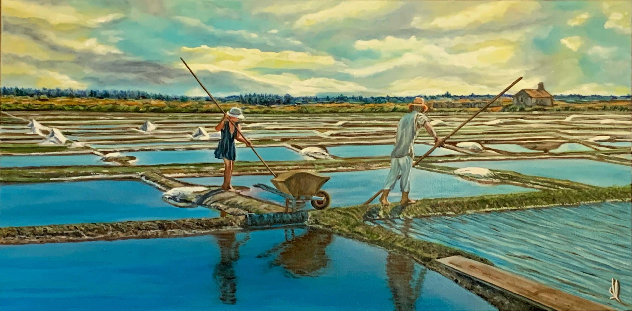 Les sauniers de Louannec (22) - Salt workers