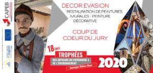 Trophée CAPEB 2020 Artisan du Patrimoine et de l'Environnement