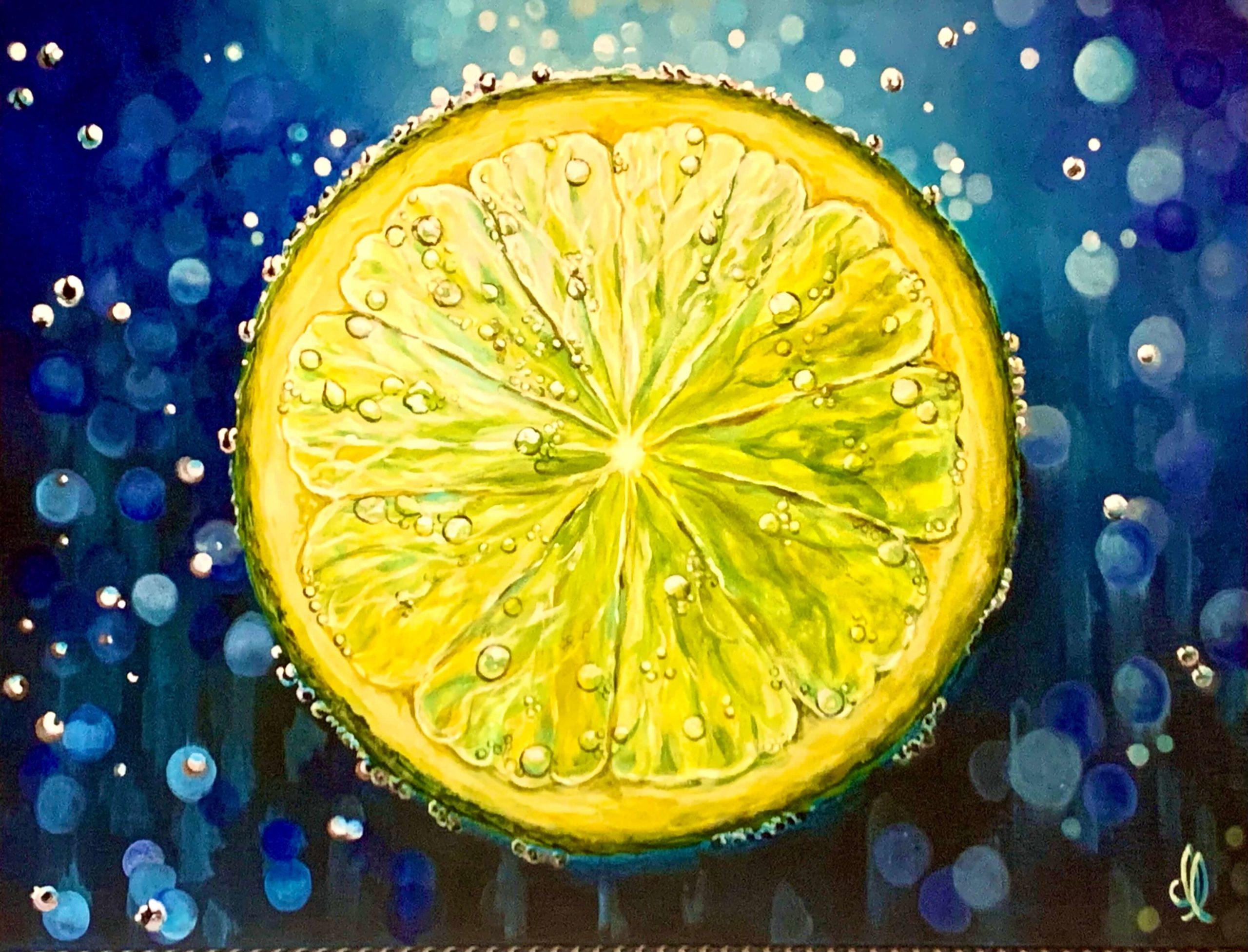 Lemon slice Acrylic painting