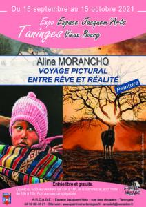 Affiche de l'exposition de peintures de Taninges Sept-oct 2021
