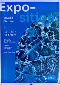 Affiche de l'expo de peintures à Alby sur Chéran Juil 2021